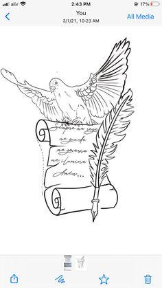 Forarm Tattoos, Forearm Sleeve Tattoos, S Tattoo, Arm Band Tattoo, Hand Tattoos, Small Tattoos, Tattoos For Guys, Dove Tattoo Design, Angel Tattoo Designs