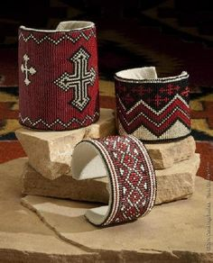 Southwestern Beaded Cuff Bracelets, very nice.  Super awesome, in fact.