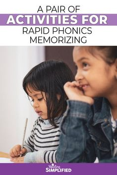 A Pair of Activities for Rapid Phonics Memorizing - Reading Simplified Reading Games, Reading Fluency, Reading Intervention, Teaching Reading, Teaching Kids, Phonics For Kids, Learning Games For Kids, Phonics Activities, Learning Letters