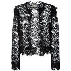 Lanvin Lace Cropped Jacket as seen on Ashley Benson