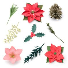 3D Wintergreens SVG Kit - $6.99 : SVG Files for Silhouette, Sizzix, Sure Cuts A Lot and Make-The-Cut - SVGCuts.com