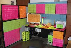 post it notes office prank