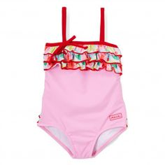1fd0e2e3895f9 Azul Little Girls Pink Sweet Jane Ruffle Strap One Piece Swimsuit 2-6 Boys  Swimwear
