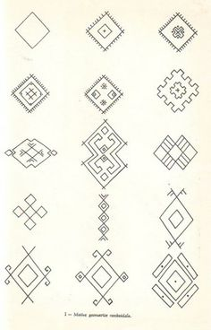Embroidery Tools, Folk Embroidery, Hand Embroidery Designs, Embroidery Patterns, Ancient Symbols, Ancient Art, Romanian Lace, Foto Transfer, Poke Tattoo