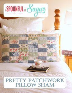 Consideravelmente Patchwork Pillow Sham - Padrão de costura por A Spoonful of Sugar