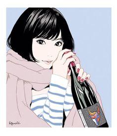 埋め込み Japanese Illustration, Manga Illustration, Digital Illustration, Character Art, Character Design, Cute Girl Drawing, Girls Anime, Manga Artist, Japanese Artists