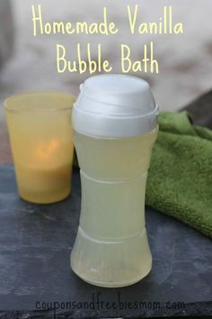 Homemade Bubble Bath with only 4 simple ingredients! Stop wasting money on expensive bubble bath! DIY Easy Homemade Bubble Bath Recipe! Great for kids or even babies! You'll wonder why you never made this before! All natural & skin-softening! Smells wonderful... it's the perfect homemade gift idea. Check out this simple recipe right now!
