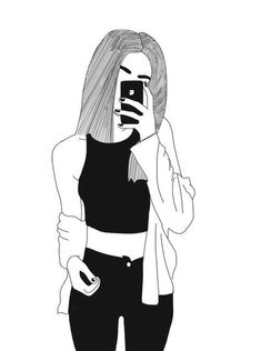 Girl tumbler cute drawings of girls, cute sketches of couples, drawings of faces, Tumblr Outline, Outline Art, Outline Drawings, Pencil Drawings, Tumblr Girl Drawing, Art Tumblr, Cute Girl Drawing, Drawing Pin, Tumblr Hipster