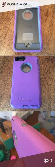 iPhone 6 OtterBox Case Women Purple & Grey 2 Piece Case. Great condition! Lightly used. No flaws. OtterBox Brand. Screen cover. OtterBox Accessories Phone Cases