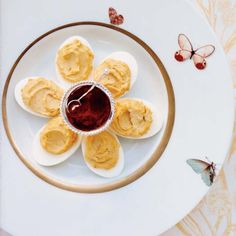 Classic Deviled Eggs | This classic version is made with two kinds of mustard and served with paprika.