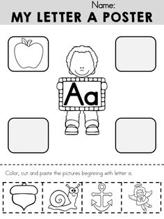My Letter A Poster >> Part of the Alphabet Adventures Program >> Download the Letter A Packet for FREE!