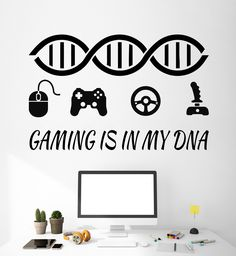 Vinyl Wall Decal Video Game Quote Gaming Zone Playroom Stickers (ig4769)