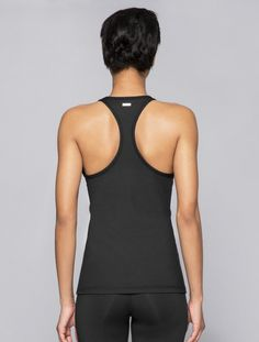Racer Tank in Embossed Check, $53 | Alala | Luxury Womens Activewear | Style meets Sport