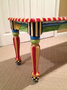 Hand Painted Farmhouse Bench by paintingbymichele on Etsy, $299.99