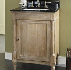 "V24 Fairmont Rustic Chic 24"" Vanity - Weathered Oak"