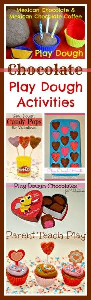 Chocolate Play Dough Activities -- great for Valentine's Day or any time!!