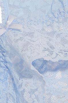 Hanky Panky - Signature Stretch-lace Soft-cup Bra - Sky blue - medium