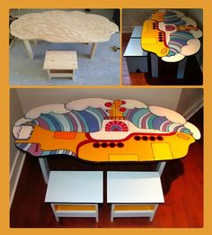 Yellow Submarine Art Table - yes Olivia and Lilah have this. Custom made by the lovely Sara :)