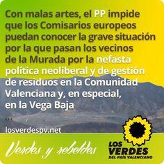 El PP veta tramitación urgente de petición de Los Verdes sobre vertederos en la Vega Baja e impide que se trate en esta legislatura