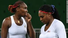 They were one of the biggest favorites for gold in women's tennis doubles -- but Serena and Venus Williams won't be topping the podium at the Rio 2016 Olympics.