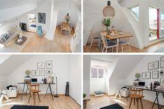 Tiny Swedish Lofted Apartment-study and kitchen.  Via dornob (3)