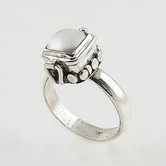 Pearl Sterling Silver Poison Ring – Keja Designs Jewelry