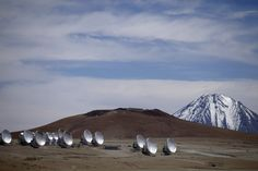 Radio antennas are spread out on the terrain as part of one of the world's largest astronomy projects in the Atacama desert in northern Chile on Sept. 27, 2012.