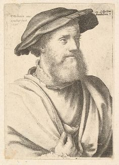 Wenceslaus Hollar | A bearded man after Hans Holbein (?) | The Met