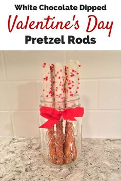White Chocolate Dipped Pretzels - An Easy Valentine's Day Treat