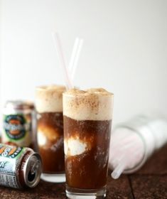 Vodka Root Beer Floats with Coconut Ice Cream