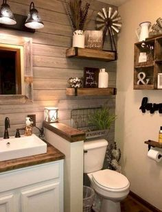 Cool Latest Bathroom Decor Ideas That Match With Your Home Design. Spa and hotel-inspired bathrooms are considered as a design trend for this year. Although the bathroom trends are changing each … Rustic Bathroom Decor, Boho Bathroom, Wall Decor For Bathroom, Nature Bathroom, Kitchen Decor, Lavender Bathroom, Navy Bathroom, Bathroom Canvas, Purple Bathrooms