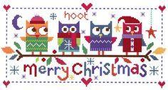 Christmas Owls (CSKFF180) New cross stitch kit designed by The Stitching Shed…
