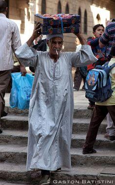 Daily life - taking peaches to market, Al Hazhar, Cairo. Egypt