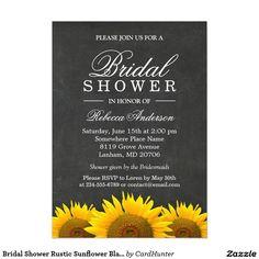 FloralGardenBlueStripeBridalLuncheonInvitations bridesmaid