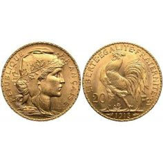 French 20 Franc Gold Coin  #Gold  #401K #IRA #Investing #Bullion #regal_assets_review #Regal_Assets
