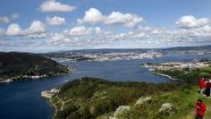 El sitio más adecuado para disfrutar de las mejores vistas de la ría de Ferrol es el mirador de la Bailadora, en Montefaro. FOTÓGRAFO: FUCO ...