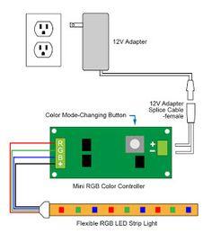 foxanon 5m - 30m rgb led strip light 5050 5630 2835 led 12v led, Wiring diagram