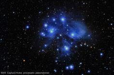 El cúmulo de estrellas Las Pléyades (M45) desde Pioz, Guadalajara (España)   El Universo Hoy