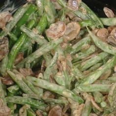 Slow Cooker Green Bean Casserole from Rachel Ray show.  My son loves Green Bean Casserole and I hope to try this for Thanksgiving.  He better like it because he'll be the only one eating it!