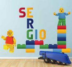 Personalisierter Lego Aufkleber