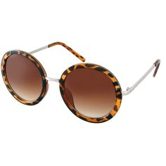 ASOS Round Sunglasses With Metal Bridge