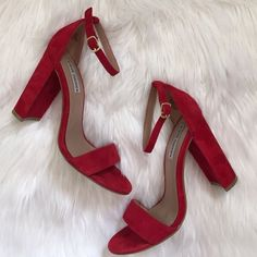 It is possible to be in love with a pair of shoes. These Steve Madden Carrson suede heels are gorgeous. (Source: Steve Madden)