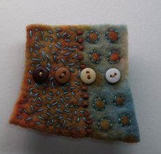 felted and embroidered brooch - Chad Alice Hagen