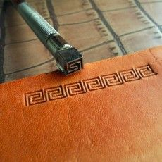 leathercraft tool, leather craft tool, leather stamps, border tool, Box