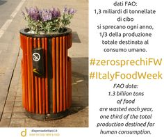 #zerosprechiFW #ItalyFoodWeek  dati FAO: ogni anno si sprecano 1,3 miliardi di tonnellate di cibo, 1/3 della produzione totale destinata al consumo umano.  FAO data: each year is wasted 1.3 billion tons of food, one third of the total production destined for human consumption.  #ddt #ishop #wine #notonlywine #food #notonlyfood