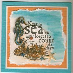 near the sea 4879E: Stamp-it Australia. Card by Susan of Art Attic Studio