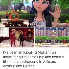 "Master Fu has been watching over them the whole time! Is it because of the ""mistake"" he made with the Peacock Miraculous?>>> I think the mistake was the butterfly miraculous Ladybug And Cat Noir, Meraculous Ladybug, Ladybug Comics, Peacock Miraculous, Los Miraculous, Lady Bug, Marinette Ladybug, Catty Noir, Adrien Y Marinette"
