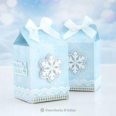 Caixinha Milk Frozen - Conviteria D'Aline Frozen Birthday Party, Disney Frozen, Decorative Boxes, Cricut, Candy, Brother, Crafting, Silhouette, Ideas