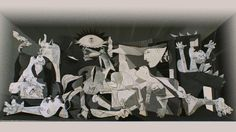 """<br>This is a tribute to Pablo Picasso's most famous artwork, Guernica (1937).<br>The main reason to do this is to echo Picasso's antiwar message, which I strongly believe is needed more than ever.<br>The backside of this artwork I added a few other Picasso's artworks to advocate peace, however washed out and fragmented it is. The ox, the """"sleeping"""" soldier, and Pegasus are from one of his early Guernica sketches.<br>The others, most notably his Bouquet of Peace (1958)..."""
