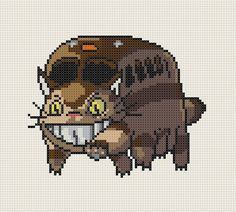 My Neighbour Totoro Catbus Nekobasu cross stitch by CapesAndCrafts, £2.30